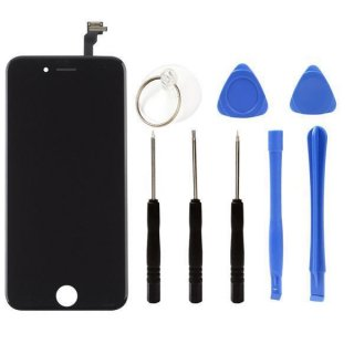 Iphone 5S LCD A++ Display Schwarz Touchscreen Glas Retina Digitizer Komplett set + 9in1 Öffner Kit