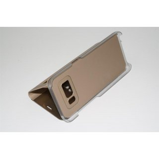 Für Samsung Galaxy S8+ / S8 Plus LED View Flip Case Tasche Gold Cover