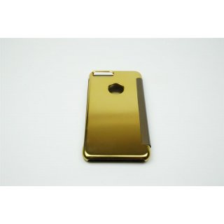 Iphone 7 Plus / 5.5 LED View Flip Case Tasche Gold Cover Schutzhülle