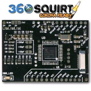 360 Squirt Coolrunner 1.6 BGA Black Corona Support