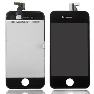 Iphone 4S LCD Display mit Touchscreen / Digitizer Frontscheibe Schwarz A++Version + 8in1 Öffner Kit